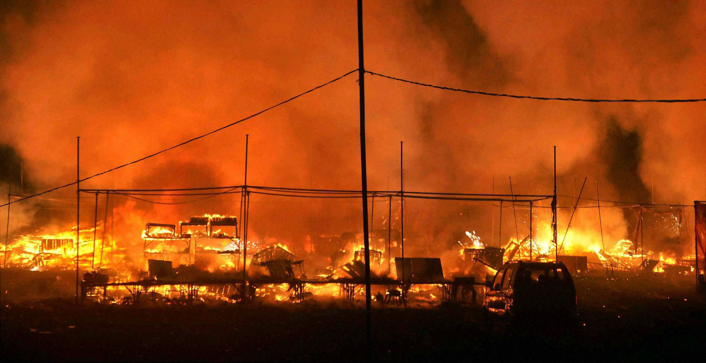 223 shops destroyed in massive fire at Faridabad