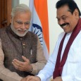 Narendra Modi and Mahendra Rajapaksa