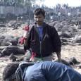 A Nepali Hindu slaughtering buffaloes