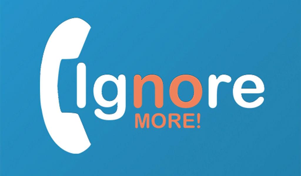 ignore no more logo