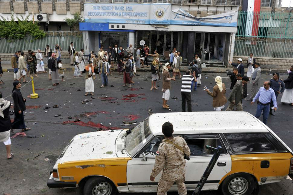 several dead and wound in suicide bomb attack in sanna