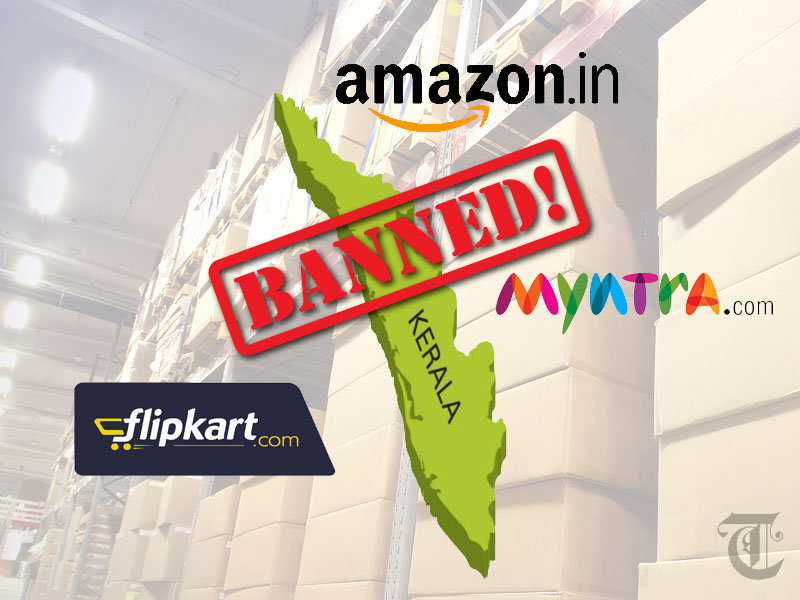 A fine of Rs. 53.63 crores has been imposed by the Kerala Commercial Taxes Department on four online trading companies that include giants like Flipkart and Jabong for supposedly indulging in illegitimate business in the state.