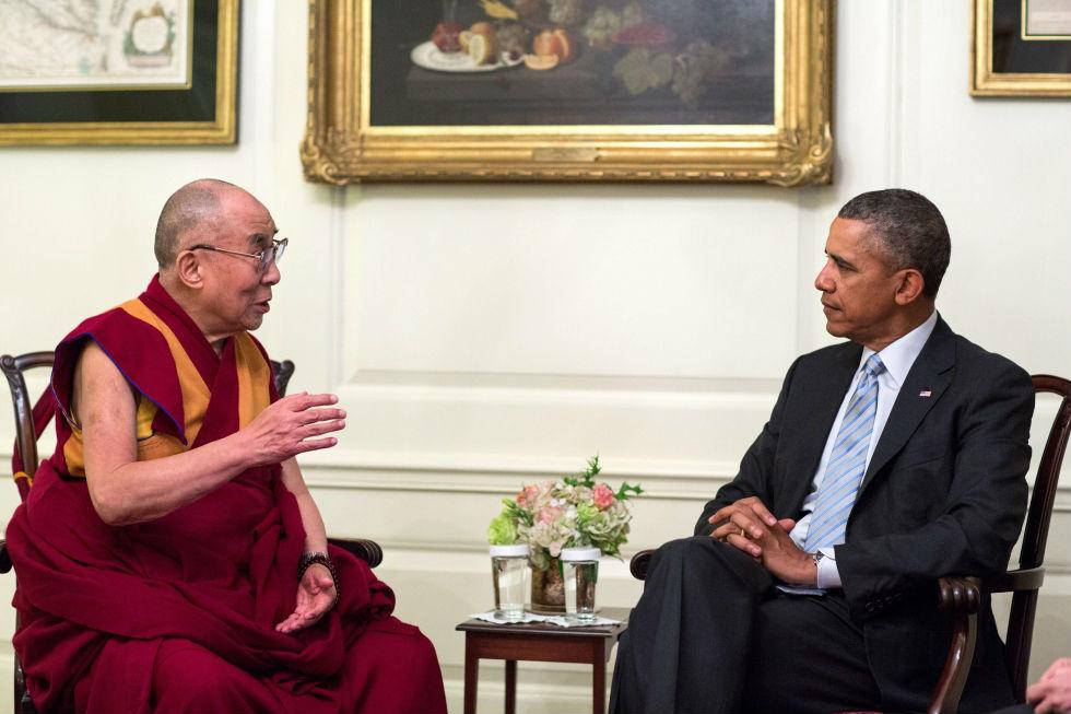 Dalai lama obama tecake