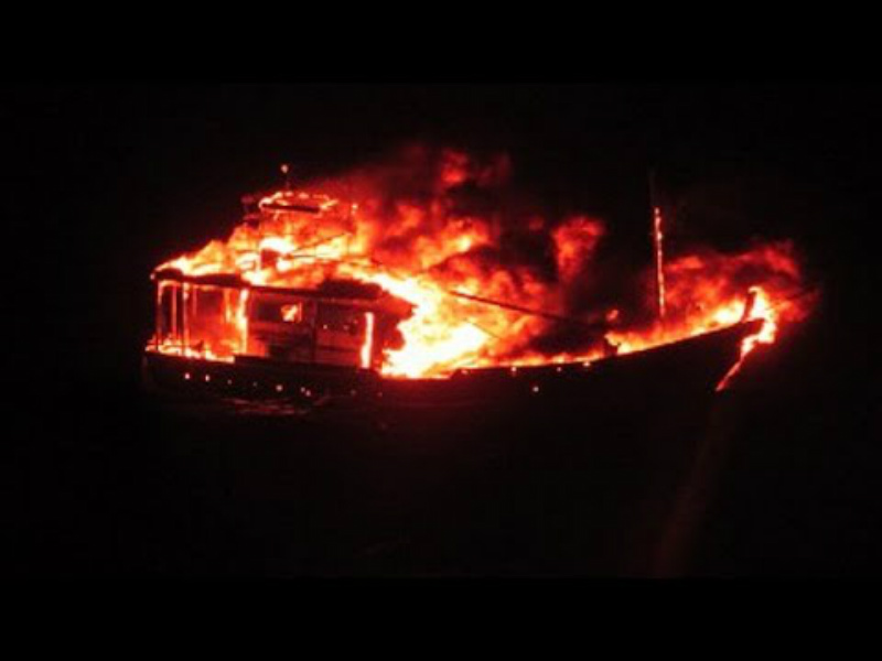 Pakistani vessel carrying explosives blows itself at Indian coast tecake