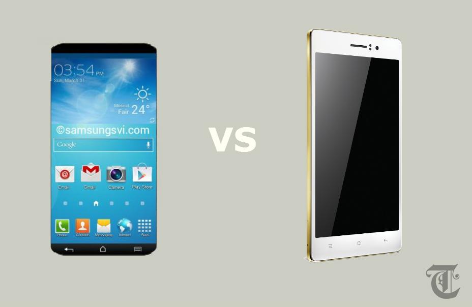 Samsung Galaxy S6 vs Oppo R5 -TeCake