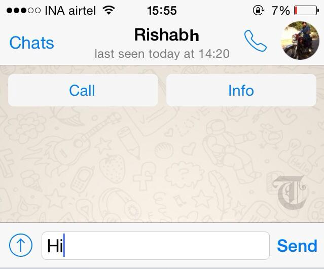 WhatsApp VOICECALL TECAKE