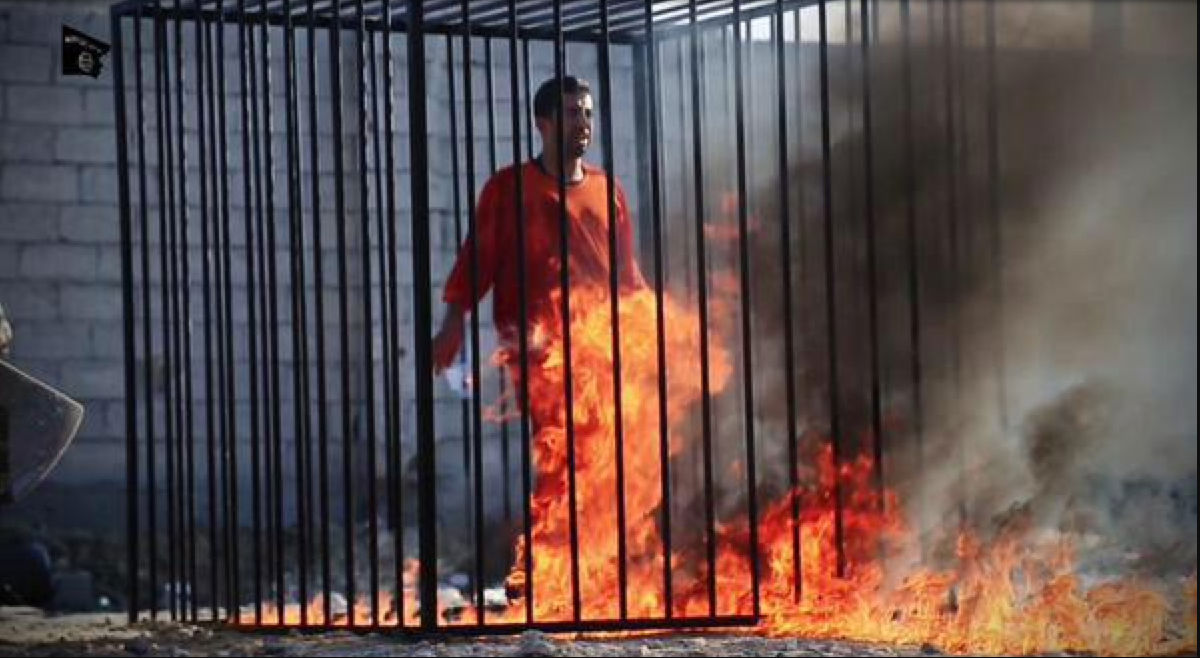 jordanian pilot burnt alive tecake