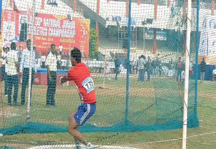 Haryana's Ashish Jakhar set a national record in hammer throw