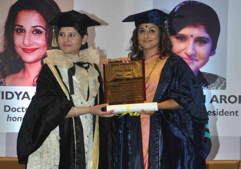 Bollywood actress Vidya Balan receives Honorary Doctorate TeCake