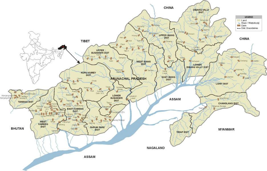 dam india map TeCake