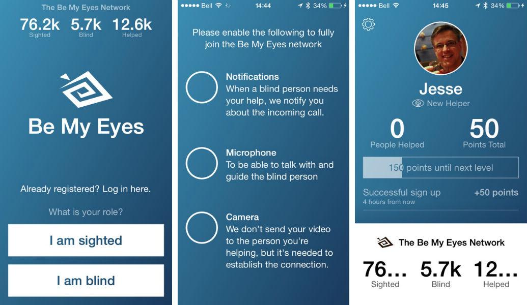 Be My Eyes Screenshot TeCake