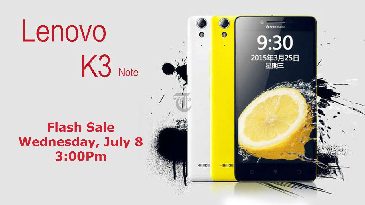 Lenovo K3 Note first Flash Sale TeCake