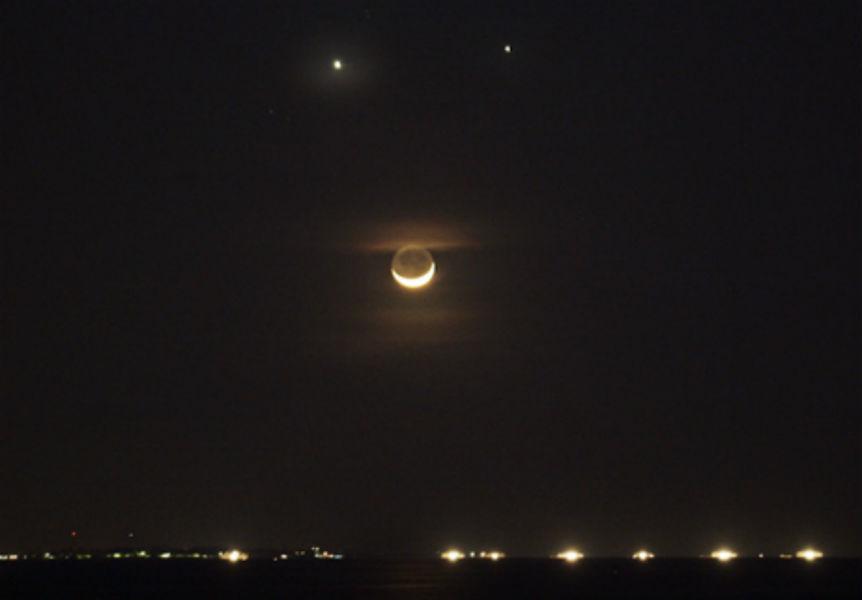 Moon Venus and Jupiter Conjunction TeCake