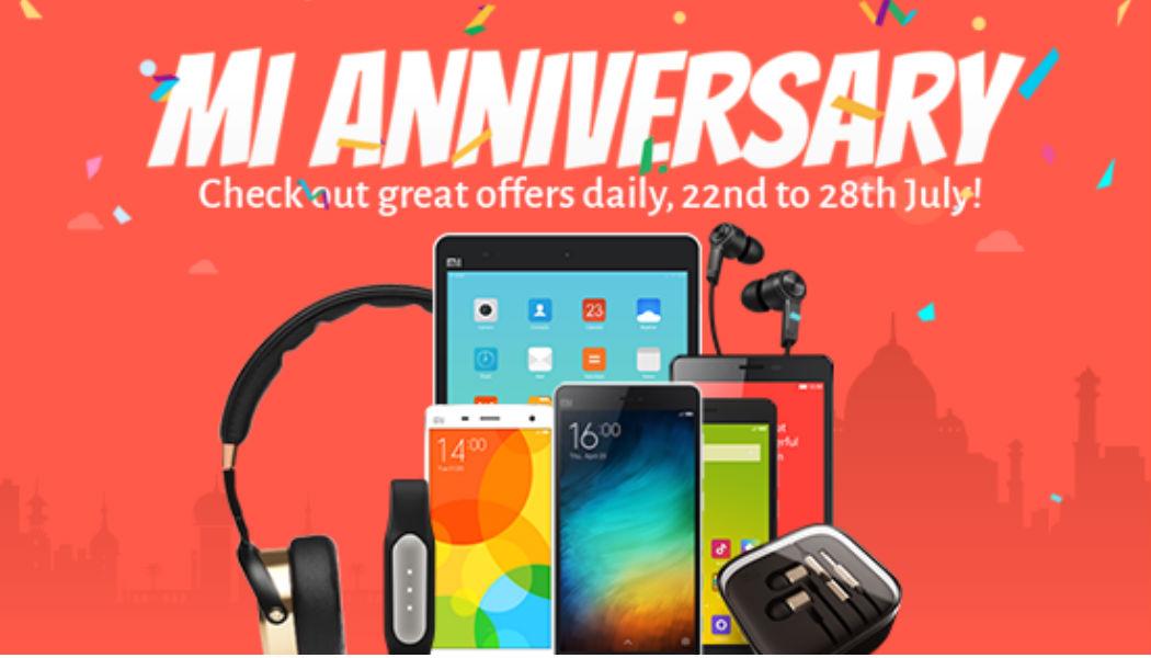Xiaomi India anniversary Saturday TeCake