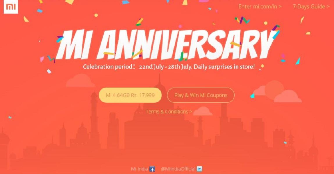 Xiaomi India anniversary TeCake