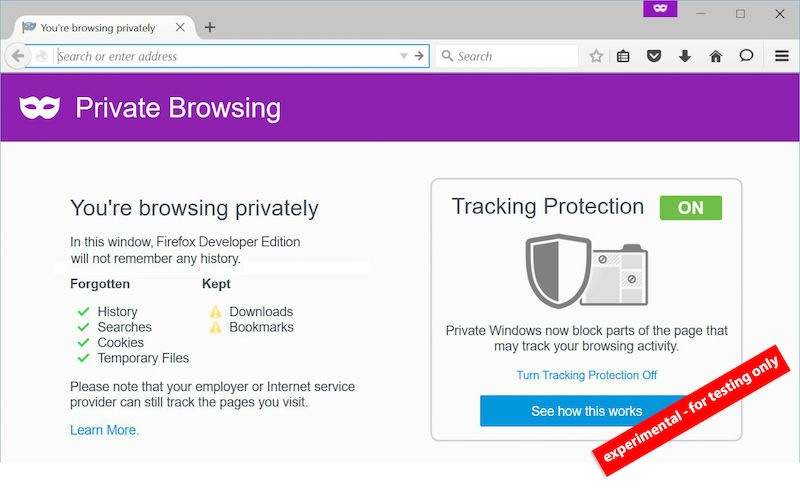Firefox Pre-beta version - The TeCake