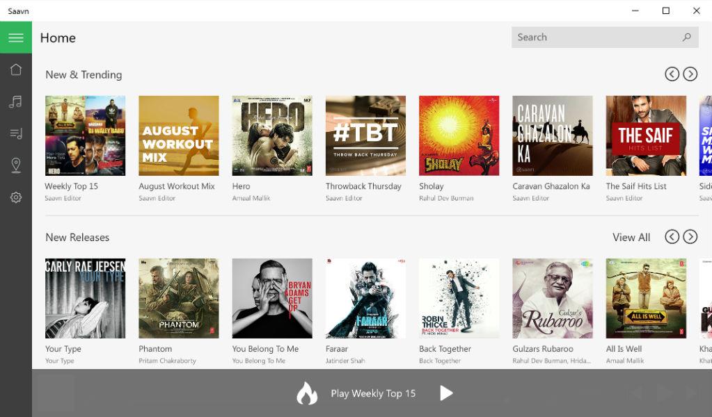 Saavn App Screenshot - The TeCake