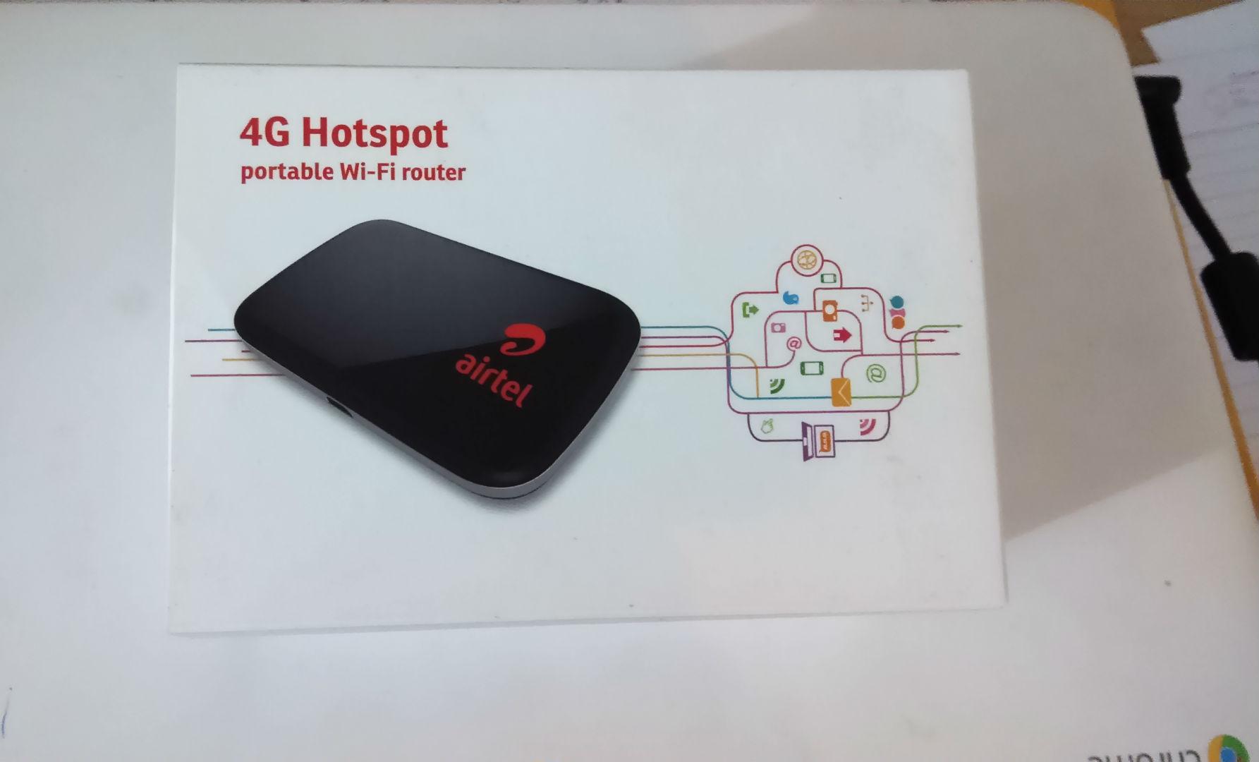 Airtel 4G router -The TeCake