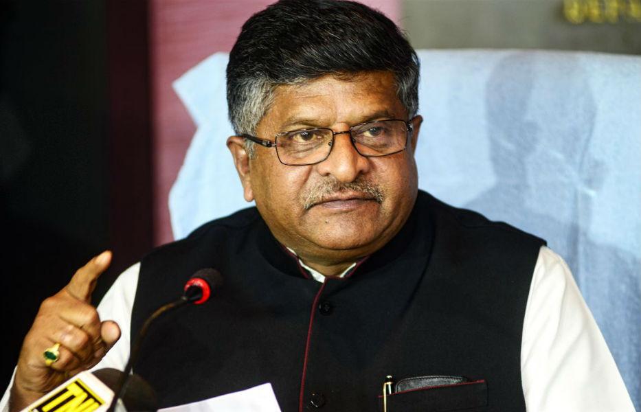 Telecom Minister Ravi Shankar Prasad - The TeCake