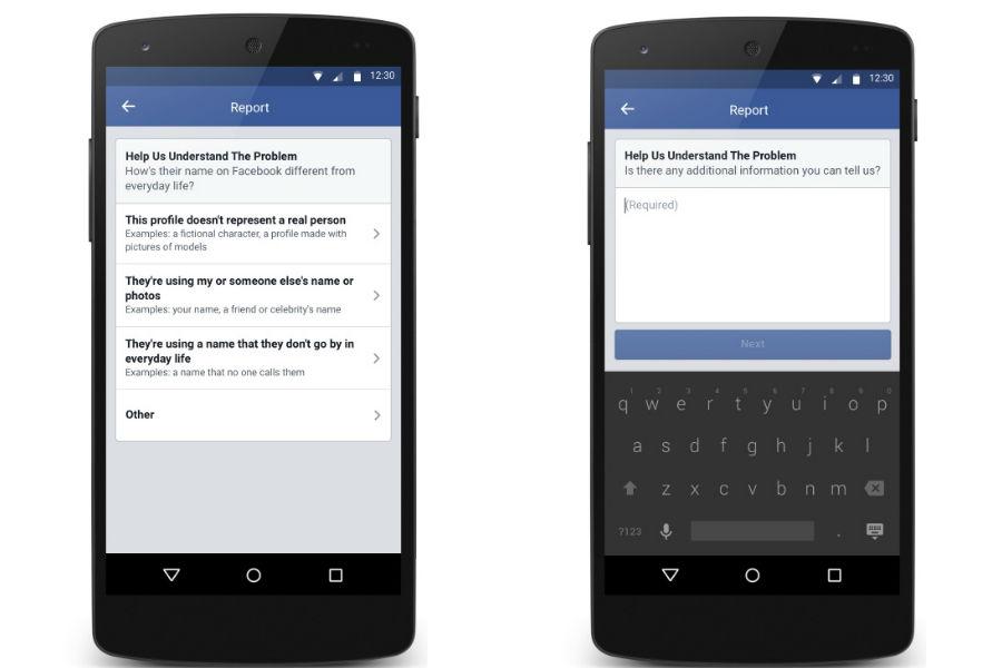 Facebook Real Name Policy - The TeCake