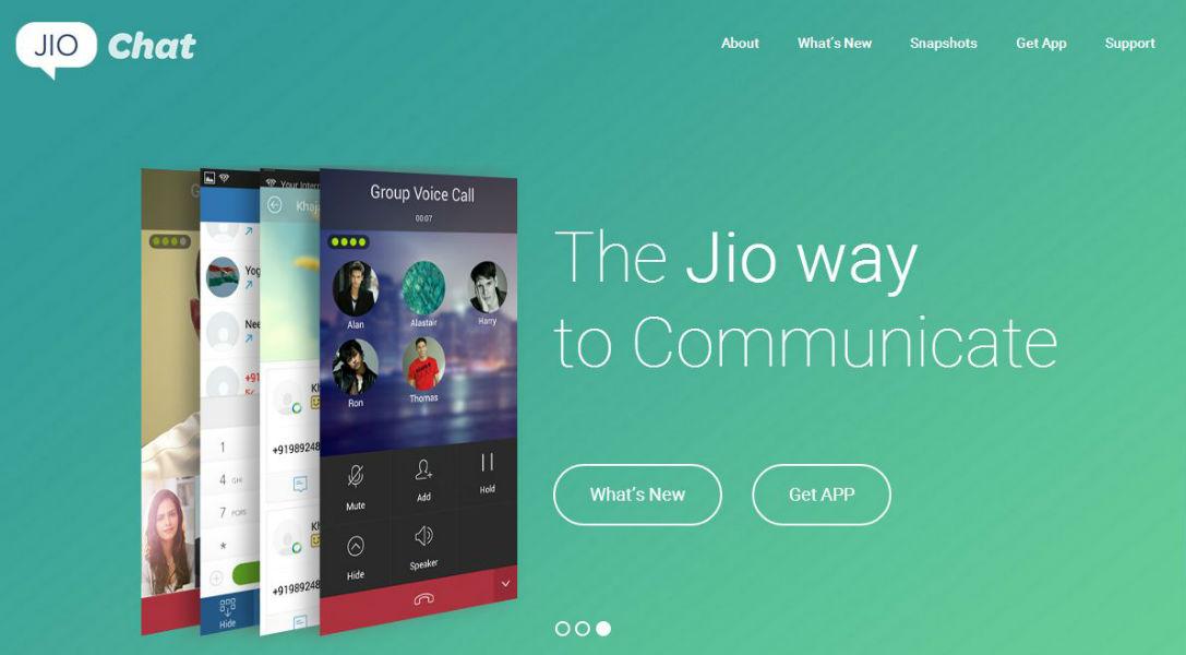 Reliance Jio Chat App - The TeCake