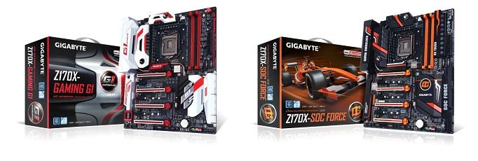 GA-GIGABYTE Z170X-Gaming G1(left) and GA-Z170X-SOC Force (Right)