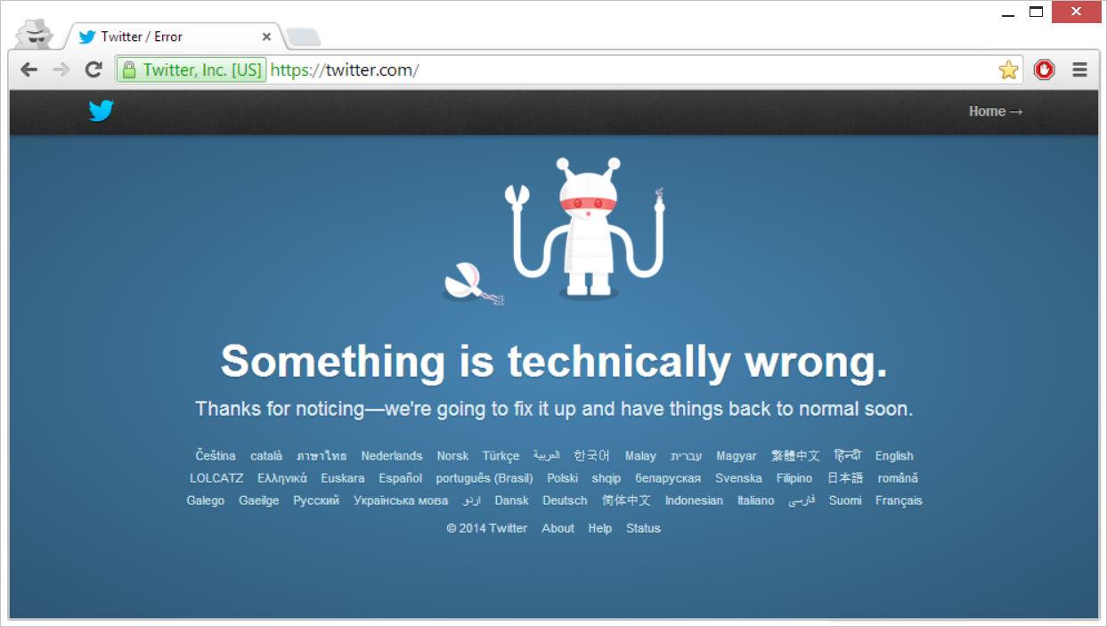Twitter Down-The TeCake