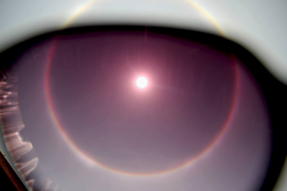 Watch this mysterious 22 degree halo ring around Sun as seen in Kolkata