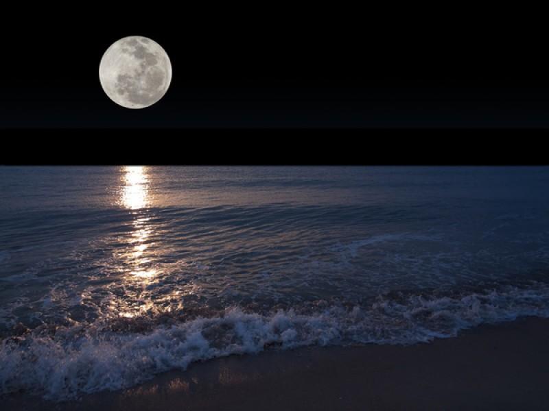 full moon beach