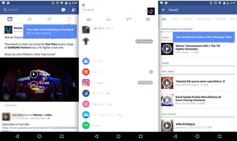 Android, Facebook, Offline, Save Videos, Videos