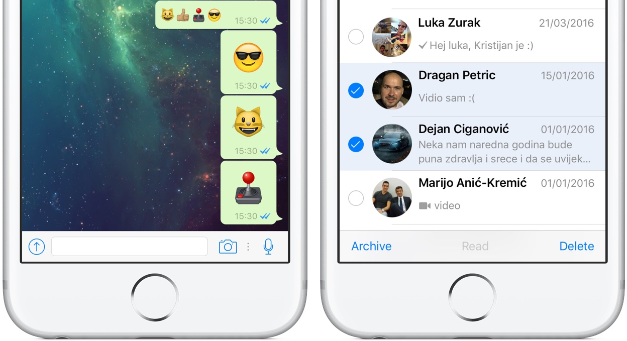 The upgraded WhatsApp version brings Bigger Emojis and zoom option for iOS users