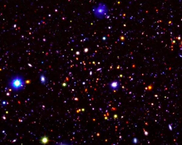 galaxy, universe, stars, telescope, infrared, map, cosmos