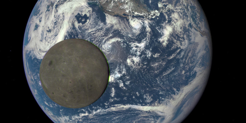 Watch this stunning video of Moon crossing sunlit face of Earth captured by DSCOVR