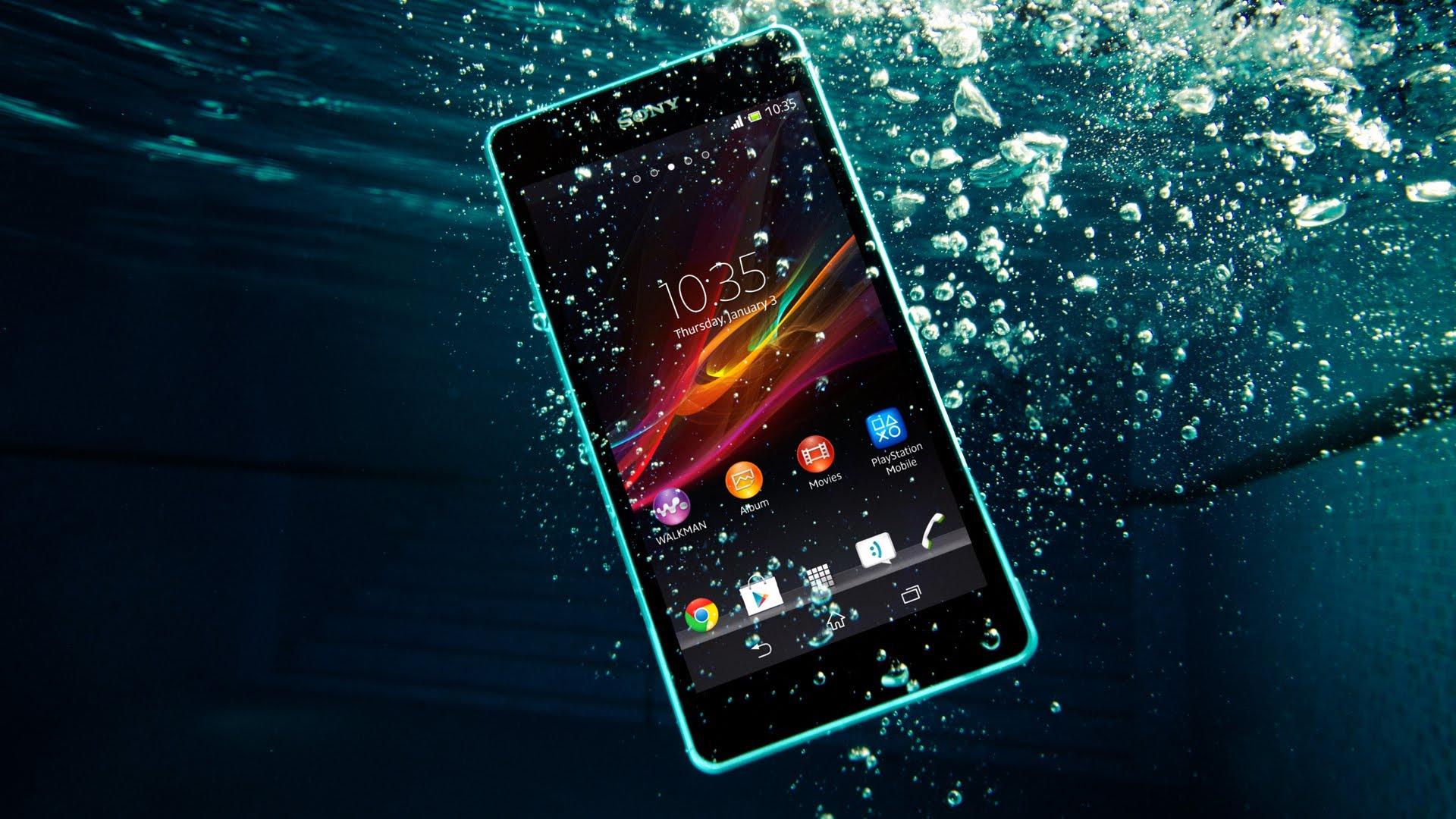 Waterproof smartphone from Sony