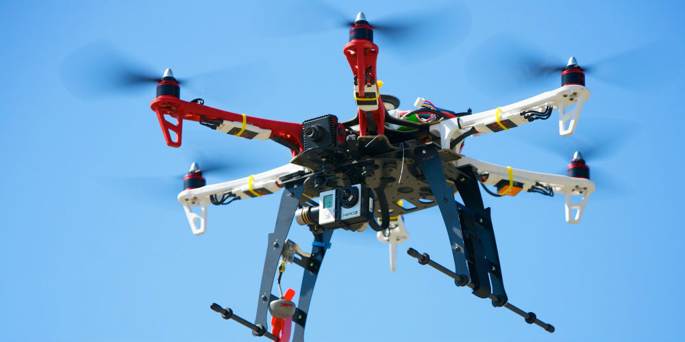 Hexacopter Drones are more effective in studying sea mammals such as Whales and Dolphins