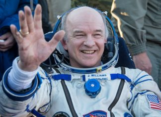 NASA astronaut Jeff Williams has returned to Earth after spending a total of 534 days in space over four missions aboard the International Space Station. The 58-year-old now holds the US record for most cumulative time in orbit.