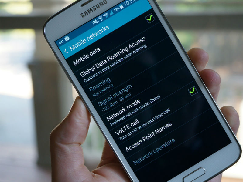 VoLTE call activation option on a Samsung Android Phone