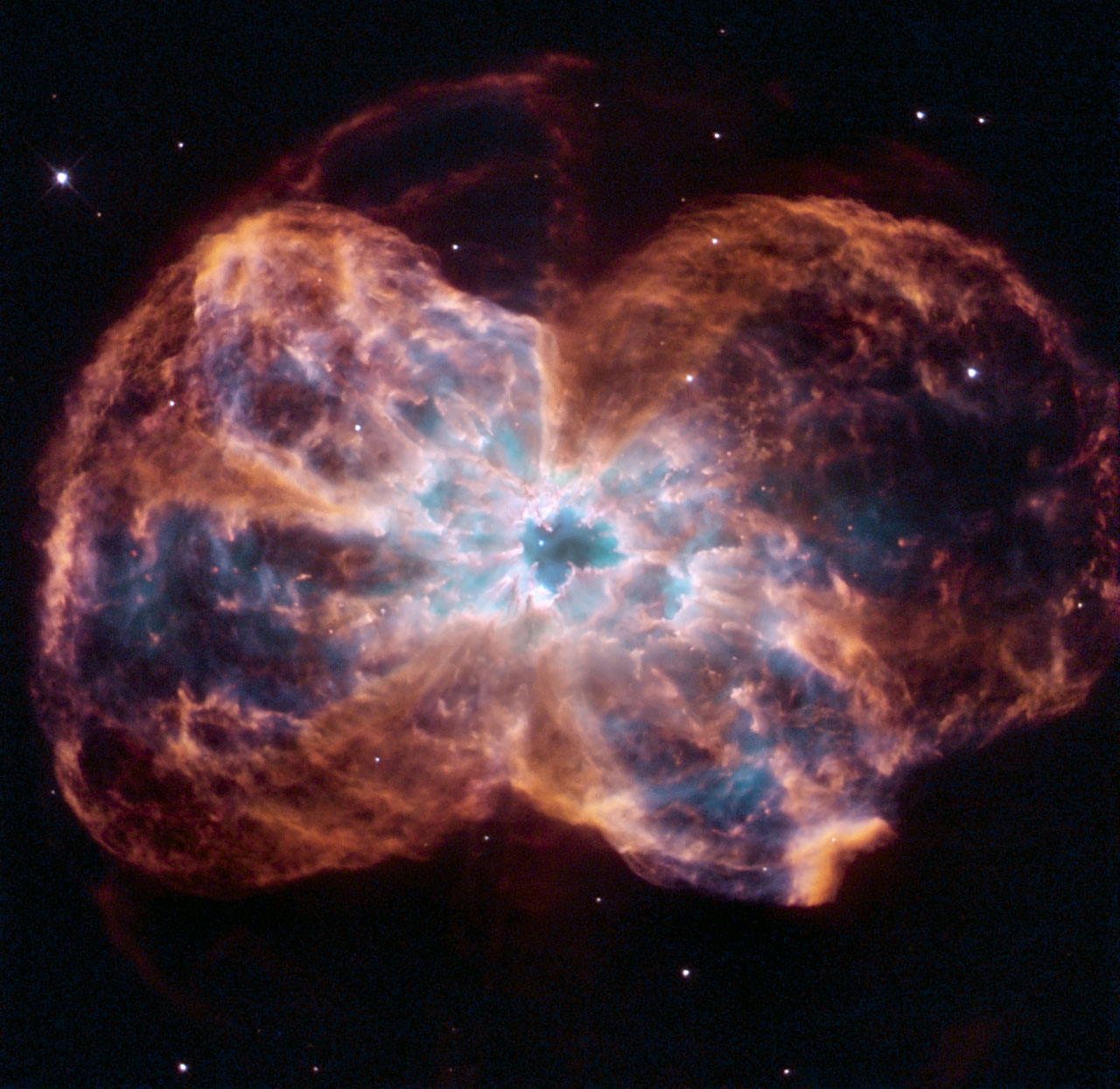 Hubble Views a Colorful Demise of a Sun-like Star