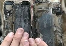 Apple iPhone 7 burnt