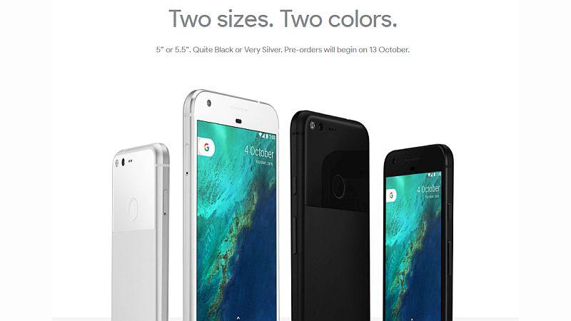 Google Pixel two size