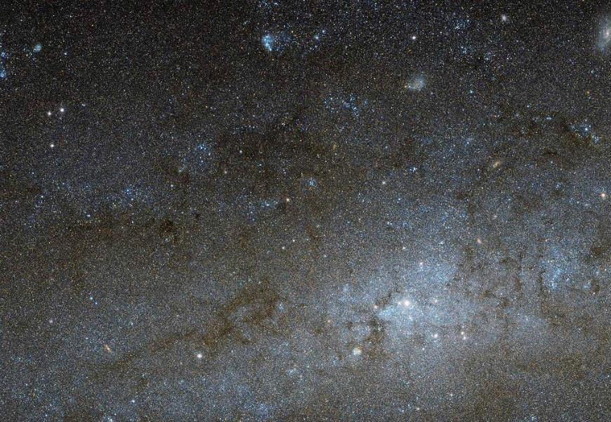 NASA/ESA Hubble beams back stunning image of central region of spiral galaxy NGC 247