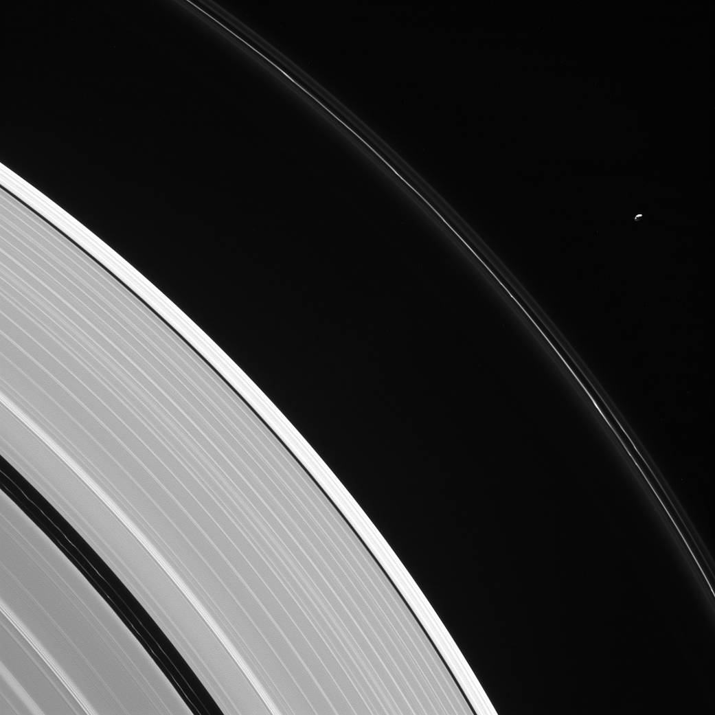 Watch: NASA Cassini image shows changing Saturn F ring and Potato-like moon Pandora