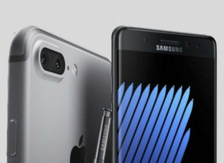 Samsung Galaxy Note 7 and iPhone 7