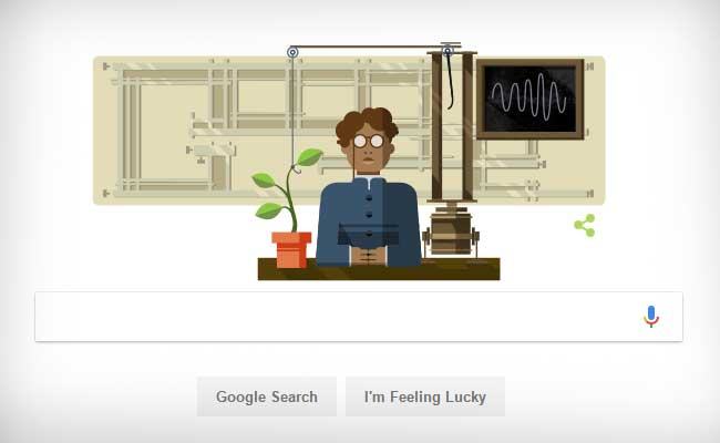 Sir Jagadish Chandra Bose Google Doodle