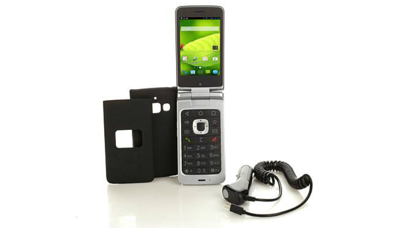 ZTE CYMBAL-T Android-Powered Flip-Flop Phone