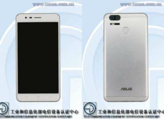 Asus Zenfone 3 Zoom TENAA listing