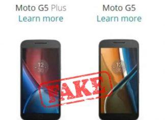 Moto G5 and G5 Plus fake image