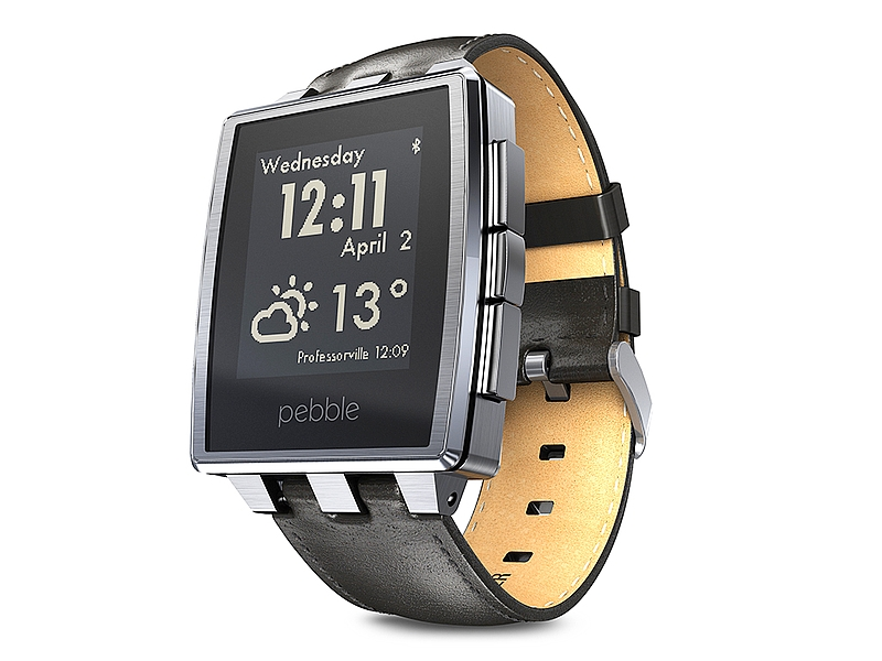 Pebble Time Steel Brushed