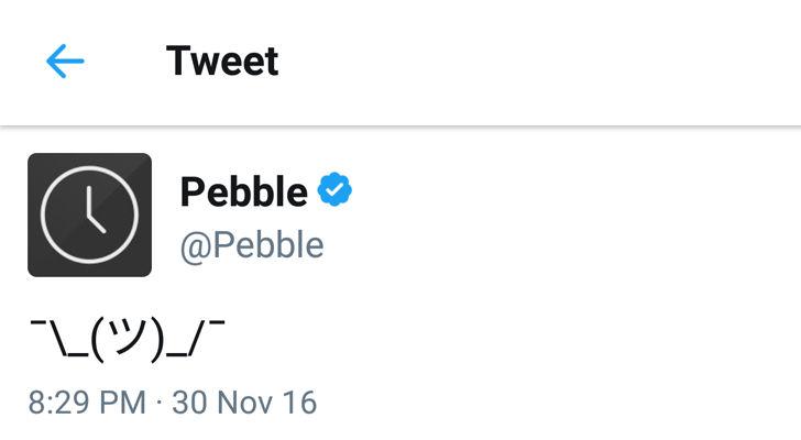 Pebble Tweet