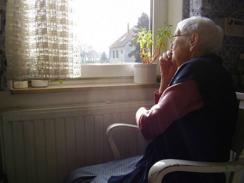 Lonely elderly people